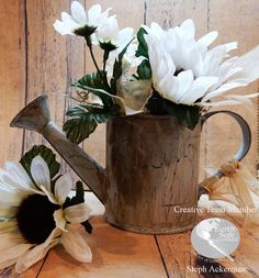 How to create a fabulous flowering watering can using Chalk It Up Paint from Earth Safe Finishes.