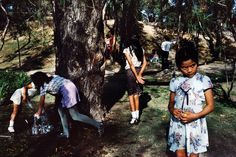 Alex Webb, Children playing in Chapultapec Park, Mexico City, 1984