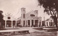 Tempo Doeloe #58 - Yogyakarta, Hotel Toegoe, 1920.The current Kedaung Plaza in 1920, scan of an old postcard