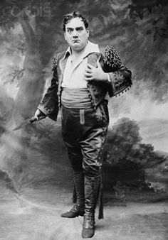 Enrico Caruso Dressed as Don Jose in Carmen