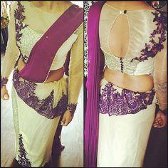 Saree jackets Saree Jacket Designs, Saree Blouse Patterns, Bridesmade Dresses, Bridal Dresses, Saree Styles, Blouse Styles, Bridesmaid Saree, Bridesmaid Ideas, Bridesmaids