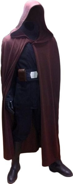 Star Wars Luke Skywalker Jedi Knight Robe ONLY - Dark Brown - Replica Star Wars Costume