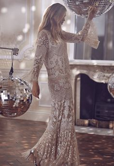 Discover our new 'Snowflake Collection', featuring embroidered full-length gowns, embellished sweats & hoodies, tulle capes and ballerina skirts. Embellished Gown, Sequin Gown, Long Floral Maxi Dress, Lace Dress, Aurora Dress, Ballerina Dress, Long Sleeve Gown, Full Length Gowns, Romantic Lace