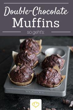 Doppelt Schokoladig! Double-Chocolate Muffins für echte Chocoholics!
