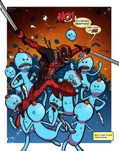 Deadpool Meets Rick and Morty