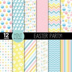 Easter Digital Paper Easter Printable Sheets by mintprintables