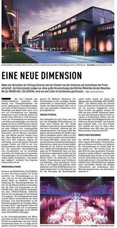 In einer Handelsblatt Sonderbeilage zum Thema Zollverein gab´s auch diesen schönen Artikel über uns.