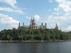 A scenic view of Parliament and the Parliament Library in Ottawa, as seen while on a sightseeing cruise with Paul's Boat Lines.