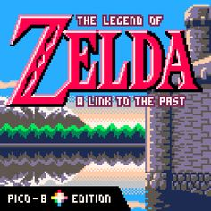 Zelda - A Link to the Past by Chris Donnelly with Pico-8 limitations #pixelart