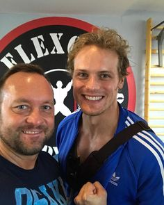 "95 Likes, 6 Comments - Flex Gym (@flexgymbudapest) on Instagram: ""Welcome on board Sam Heughan💪 Flex Gym Your Gym🇭🇺🇺🇸 #samheughan #flexgymbudapest"""