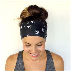 Yoga Headband - Workout Headband - Fitness Headband - Running Headband - Free Bird Print - Boho Wide Headband by TrueNorthCollection on Etsy https://www.etsy.com/listing/242517356/yoga-headband-workout-headband-fitness