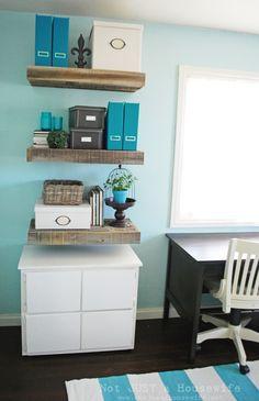 DIY IKEA: Reclaimed Wood Floating Shelves