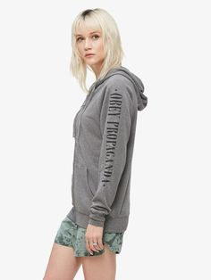 New Times Zip Hood Heather Grey