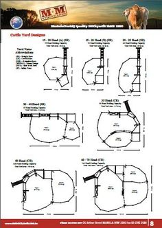 15 - 70 Head Cattle Yard Plans