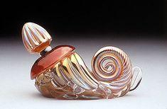 Nautilus Perfume by Charles Sorrels, $330; available at sorrelsglass.com #glass #perfume_bottle #snail