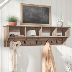 Add some rustic modern farmhouse gorgeousness to any room in your home instantly with a rustic coat rack. An extremely versatile farmhouse decor item because a coat rack is not just a coat rack! Entryway Coat Rack, Diy Coat Rack, Rustic Coat Rack, Coat Rack Shelf, Wall Mounted Coat Rack, Hanging Coat Rack, Coat Rack With Storage, Pallet Coat Racks, Coat Hooks With Shelf