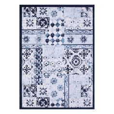Vcny Patchwork Rug, Blue
