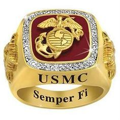 Corpsmen are Always Faithful, that's why honoring the commitment to serve with this U. Marine Corps Military Ring is the perfect gift.
