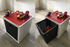 LEGO Duplo play and store box - IKEA Hackers LEGO DUPLO play and storage box Here is a birthday present for my first grandchild. It consists of an IKEA KALLAX shelf (single cubes) and a Branäs basket. Etagere Kallax Ikea, Ikea Kallax Shelf, Kallax Shelving Unit, Ikea Kallax Regal, Ikea Kallax Boxes, Lego Duplo, Lego Toys, Lego Storage, Storage Hacks