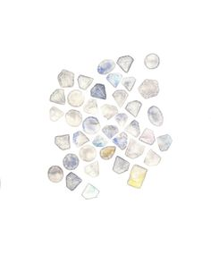 April Birthstone  Birthstone Art  Diamond  Gem Art