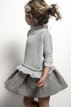 Little girls grey outfit ideas. Neutral colours and style tips. - Little girls grey outfit ideas. Neutral colours and style tips. Little girls grey outfit ideas. Neutral colours and style tips. Little Girl Fashion, Kids Fashion, Fashion Fashion, Toddler Fashion, Fashion Clothes, Fashion Boots, Babies Fashion, Fashion Sandals, Fashion 2018