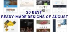 20 Best Ready-Made Designs of August…