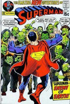 Superman 237 - Superman Enemy Of Earth - Monsters - Dc Comics - New Adventures Of Superman - No 237 - Neal Adams