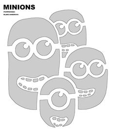 minions pumpkin pattern- would also make a great stencil for a shirt or bag for your minion loving family and friends
