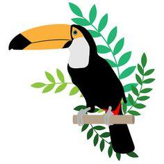 Silhouette Design Store - View Design toucan with leaves Dark Art Drawings, Bird Drawings, Bird Silhouette, Silhouette Design, Hawaiian Party Decorations, Jungle Art, Exotic Art, Bird Wallpaper, Aesthetic Painting