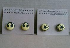 Star Wars yellow symbol post earrings by AbandonedWarehouse Star Trek, Personal Style, Symbols, Stars, Yellow, Earrings, Etsy, Jewelry, Ear Rings