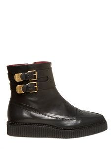 MARC BY MARC JACOBS - 30MM LEATHER BUCKLE LOW BOOTS