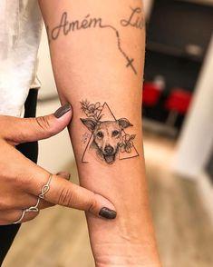 Vic Nascimento RioInk Tattoo Studio Pipi for Suelen ! Lots of love in this little dress . - Vic Nascimento RioInk Tattoo Studio Pipi for Suelen ! Tattoo Femeninos, Kopf Tattoo, Dog Tattoos, Tattoo Fonts, Animal Tattoos, Piercing Tattoo, Body Art Tattoos, Tatoos, Tiny Tattoo
