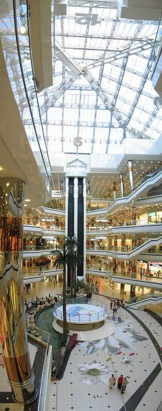 Cevahir Mall Clock in Istanbul - a 36 meter clock with 3 meter high digits laid on the transparent roof of the mall. Built in Istanbul City, Istanbul Turkey, Around The World In 80 Days, Around The Worlds, Turkey Places, Pakistan Travel, Kusadasi, Mall Design, Shopping Malls