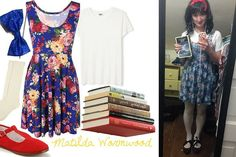 Pin for Later: last minute halloween costumes. Matilda Wormwood from Matilda by Roald Dahl. 15 Last Minute Halloween Costume Ideas for Book Lovers. Halloween Recipe, Halloween Projects, Halloween Makeup, Halloween Halloween, Halloween Decorations, Halloween Crafts, Halloween College, Halloween Desserts, Last Minute Halloween Costumes