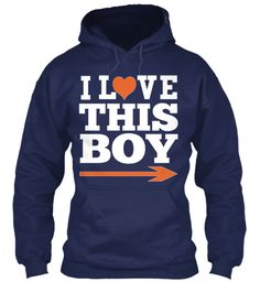 L Ve I  This Boy Navy T-Shirt Front