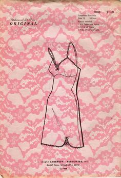 Dolores of St Paul 6946 1960s Lingerie Pattern Misses Full Slip with Empire Waist womens vintage sewing pattenr by mbchills