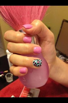 Pink and blue animal print