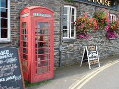 More fish & chips, red telephone booth