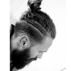manbun braid hairstyle on Instagram