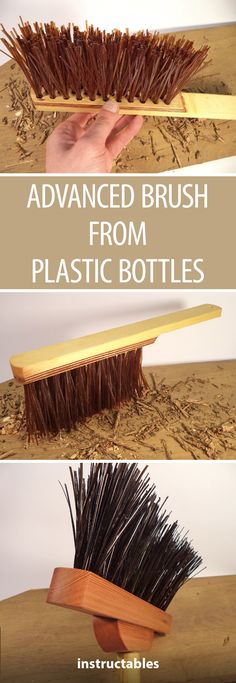 Advanced Brush From Plastic Bottles  #workshop #woodworking #upcycle