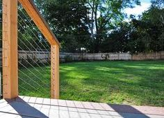 decks with wire railing - Google Search