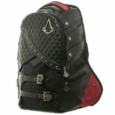 Assassins Creed: Laptop Backpack - Polyester/PU Blend - Officially Licensed Assassins Creed Product - Adjustable Padded Straps - One Size Fits Most - Includes Laptop Compartment & Lots of Pockets Assasins Cred, Assassins Creed Art, Best Laptops, 8 Bit, Laptop Backpack, Marvel Backpack, Black Faux Leather, Cool Stuff, Stuff To Buy