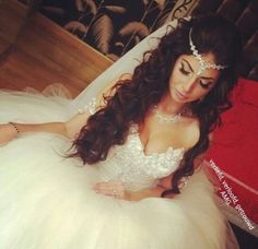 Soft Gown with Beaded Headpiece