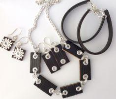 Cómo hacer Joyería reciclado de un cinturón de cuero - Diario La joya de la partida