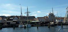 Flensburger Hafen i Flensburg, Schleswig-Holstein