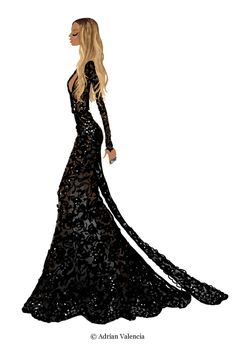 Beyonce Grammys 2015. Illustration Adrian Valencia