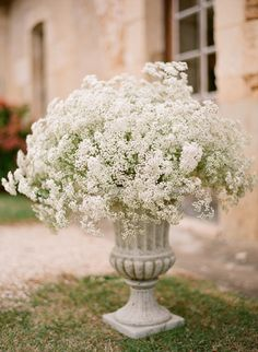Big bunches of baby's breath! See the wedding on #SMP: http://www.StyleMePretty.com/2014/03/27/french-wedding-in-the-countryside-of-bergerac/ Photography: Aneta MAK - www.anetamak.com