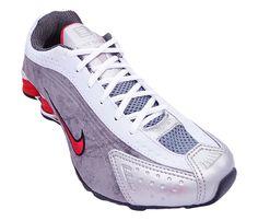 Tênis Nike Shox R4 Cromado Preto Prata E Vermelho