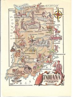 Map Of Indiana Tribes In The Past Of Course Other Tribes Came As - Show indiana on us map
