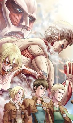 Berthold, Reined and Annie Leonhart. Attack On Titan/Shingeki No Kyojin. Attack On Titan Season 2, Attack On Titan Funny, Attack On Titan Fanart, Attack Titan, Mikasa, Armin, Tokyo Ghoul, Manga Anime, Titan Shifter